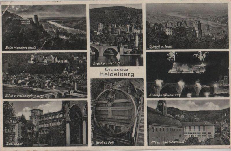 Heidelberg - u.a. beim Mondschein - 1935 0