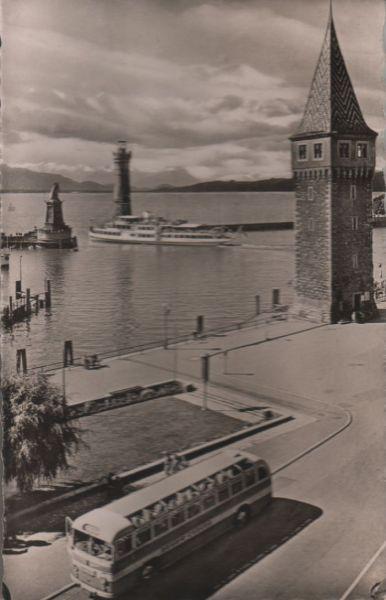 Lindau - Blick auf den Hafen - 1954 0