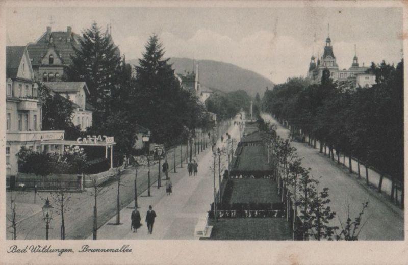 Bad Wildungen - Brunnenallee - 1937 0