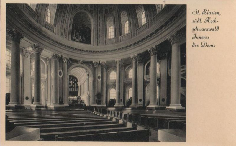 Sankt Blasien - Inneres des Doms - ca. 1950 0
