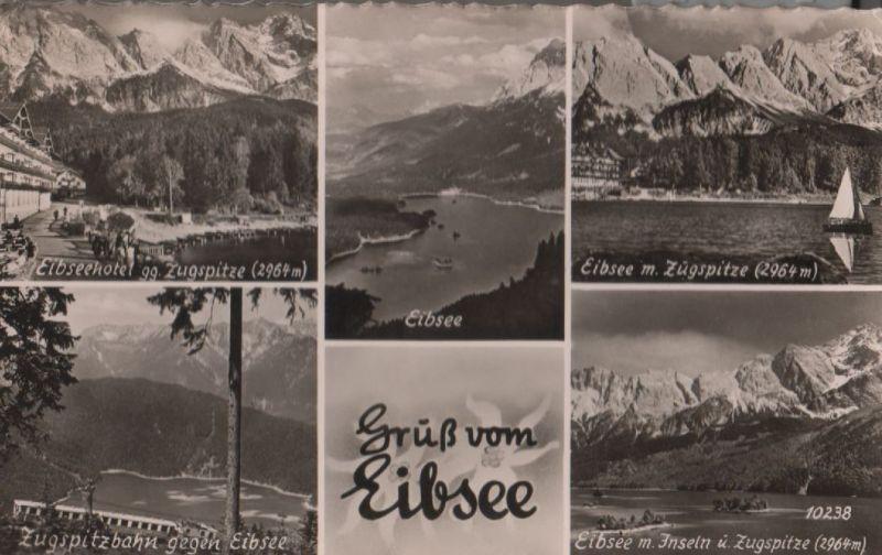 Eibsee - u.a. mit Zugspitze - 1953 0
