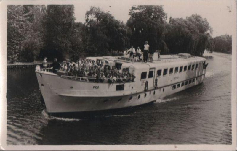Menschen auf Schiff Treptow - ca. 1950 0