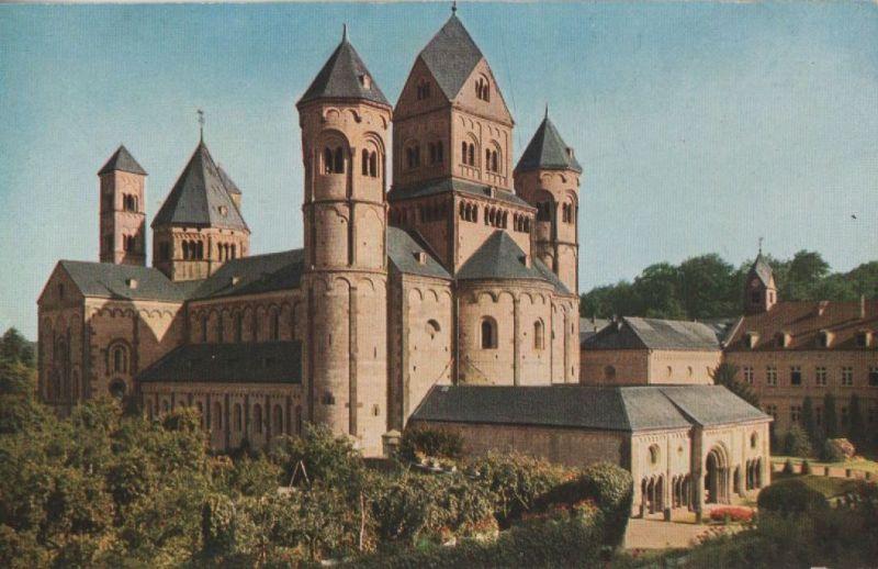 Maria Laach (Glees) - Westtürme der Basilika - ca. 1950 0