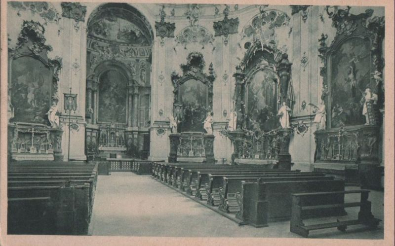 Kloster Ettal - innen - ca. 1950 0