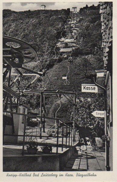 Bad Lauterberg - Burgseilbahn - ca. 1955 0