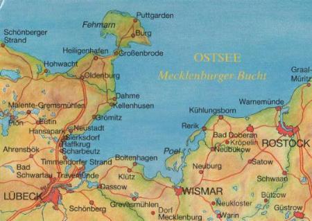 wismar mecklenburger bucht landkarte 2002 nr 0025697 oldthing ansichtskarten. Black Bedroom Furniture Sets. Home Design Ideas