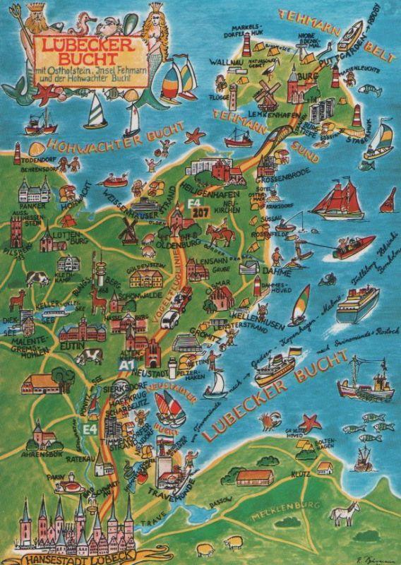 Karte Lübeck.Lübeck Karte Der Lübecker Bucht 1992
