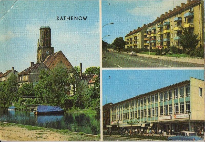 Rathenow - u.a. Leninallee - 1971