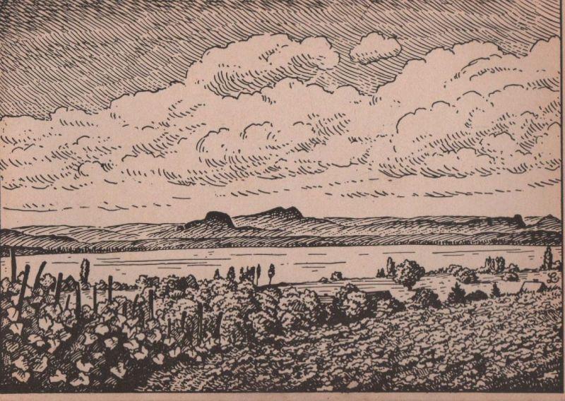 Untersee - Federzeichnung Lämmel - ca. 1950
