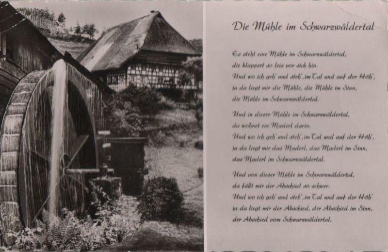Schwarzwald - Mühle im Schwarzwäldertal - ca. 1960