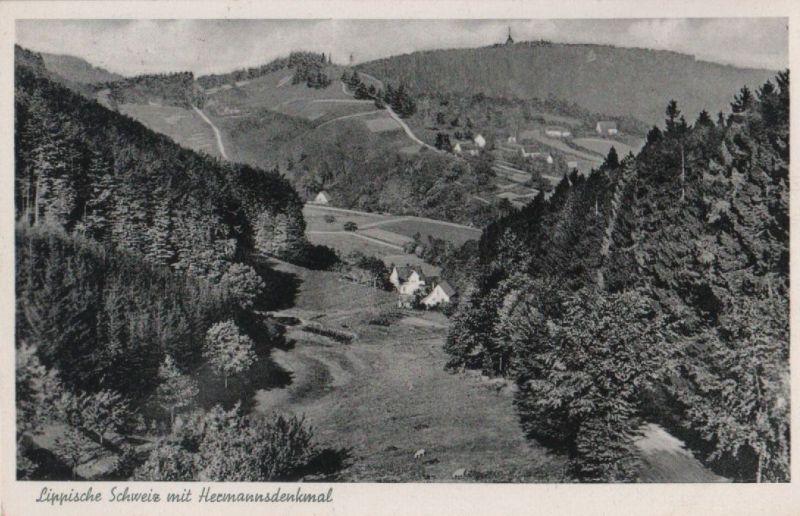 Lippische Schweiz - mit Hermannsdenkmal - 1958