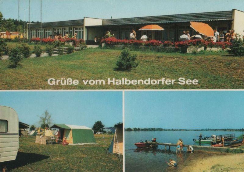 Halbendorfer See - u.a. Campingplatz - 1988