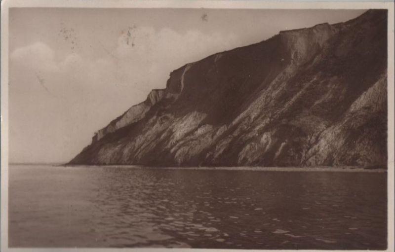 Hiddensee - Steiluferpartie am Dornbusch mit Ostsee - ca. 1940