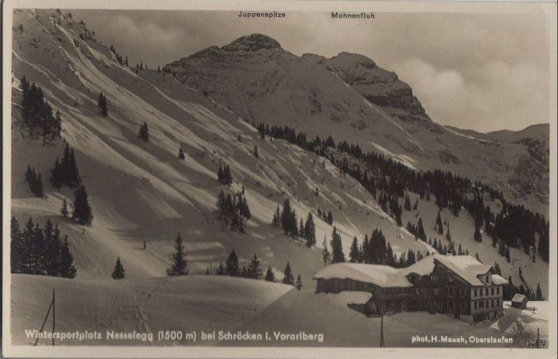 Österreich - Österreich - Schröcken - Wintersprotplatz Nesselegg - ca. 1950