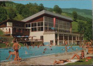 Österreich - Österreich - Saalbach - Sportzentrum mit Freibecken - ca. 1975