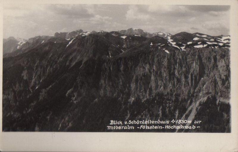 Österreich - Österreich - Aflenz Kurort - Blick vom Schönleitenhaus - ca. 1950