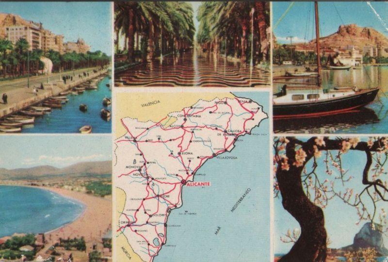 Spanien - Spanien - Alicante - 5 Teilbilder - 1961