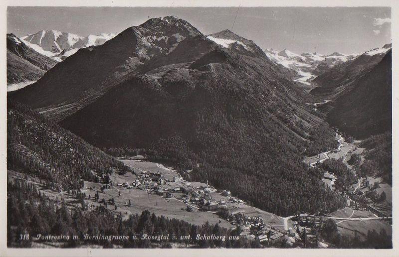 Schweiz - Schweiz - Pontresina - vom Schafberg - ca. 1955