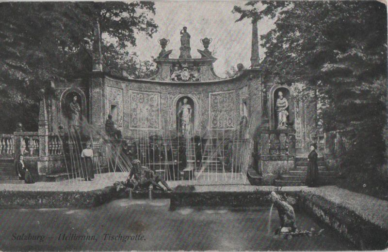 Österreich - Österreich - Salzburg, Hellbrunn - Tischgrotte - 1923