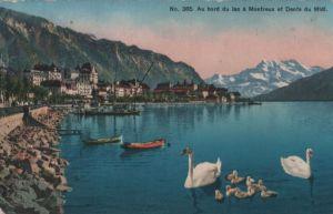 Schweiz - Schweiz - Montreux - Au bord du lac - ca. 1925