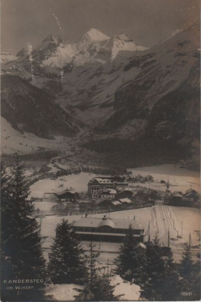 Schweiz - Schweiz - Kandersteg - im Winter - ca. 1950