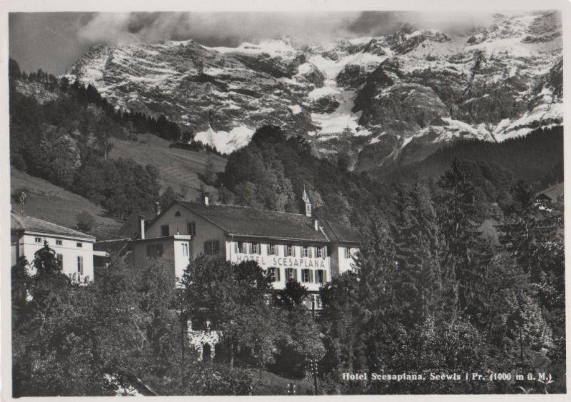 Schweiz - Schweiz - Seewis im Prättigau - Hotel Scesaplana - ca. 1960