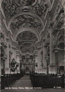 Österreich - Österreich - Sankt Florian - Stift, Blick zum Hochaltar - ca. 1960