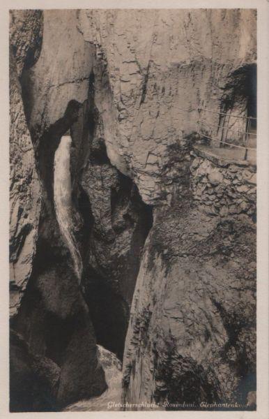 Schweiz - Schweiz - Rosenlaui - Gletscherschlucht, Elephantenkopf - ca. 1955