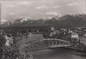 Österreich - Österreich - Villach - Draupartie mit Karawanken - ca. 1960