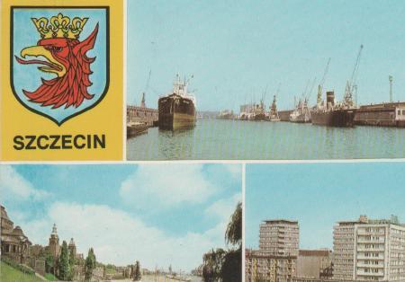 Polen - Polen - Stettin Szczecin - Port na Chrobrego - ca. 1975