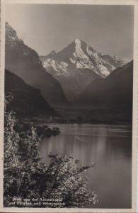 Schweiz - Schweiz - Axenstraße - Blick auf Flüelen und Bristenstock - 1950
