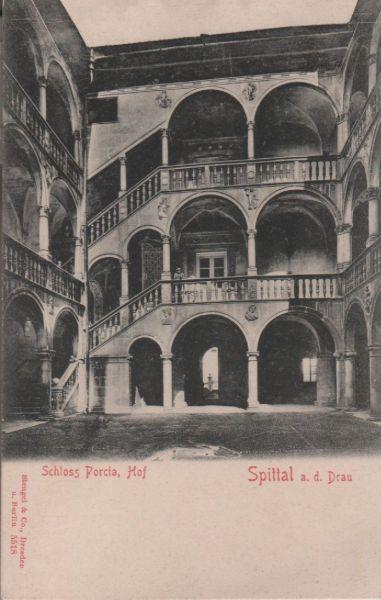 Österreich - Österreich - Spittal an der Drau - Schloss Porcia, Hof - ca. 1925