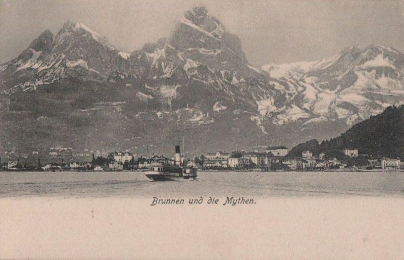 Schweiz - Schweiz - Brunnen - und die Mythen - ca. 1935