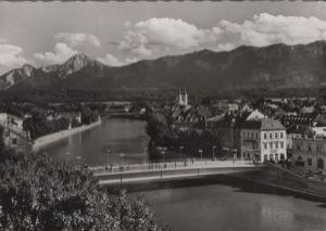 Österreich - Österreich - Villach - Draubrücke mit Mittagskogel - ca. 1965