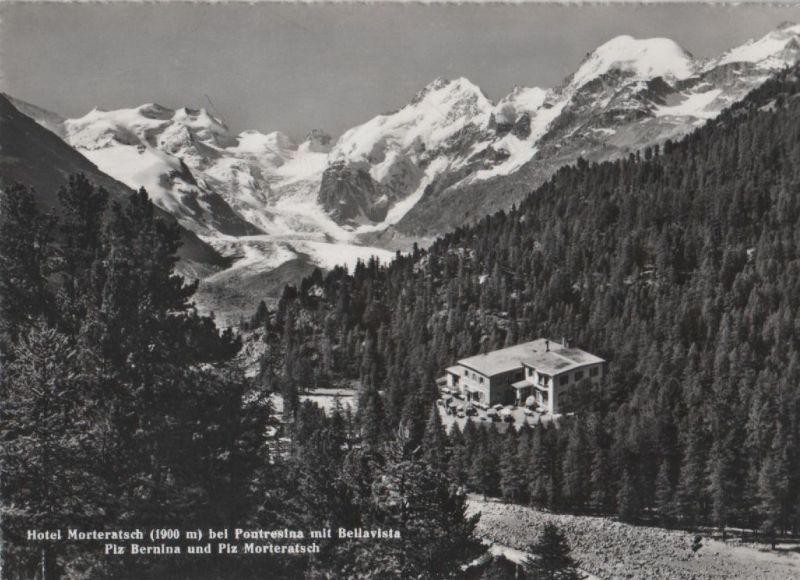 Schweiz - Schweiz - Pontresina - Hotel Morteratsch - ca. 1955