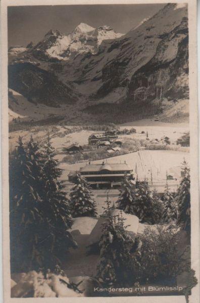 Schweiz - Schweiz - Kandersteg - mit Blümlisalp - ca. 1950