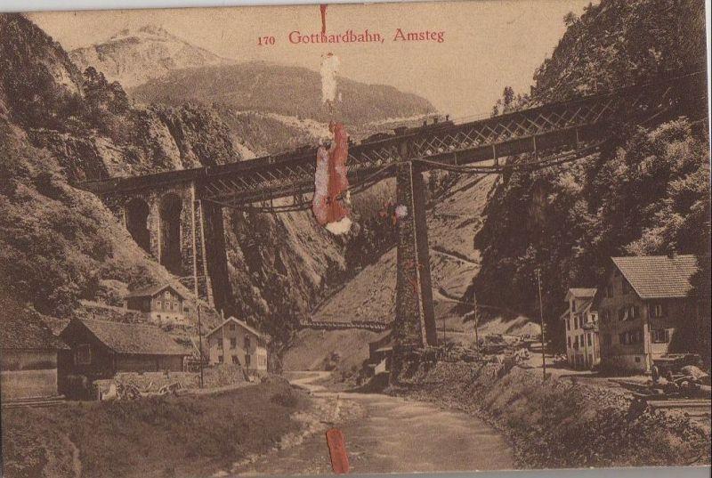 Schweiz - Schweiz - Gotthardbahn - Amsteg - ca. 1935