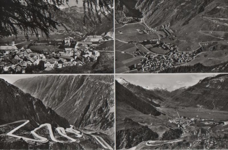 Schweiz - Schweiz - Andermatt - mit 4 Bildern - ca. 1950