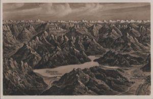 Österreich - Österreich - Plansee - Relief - ca. 1950