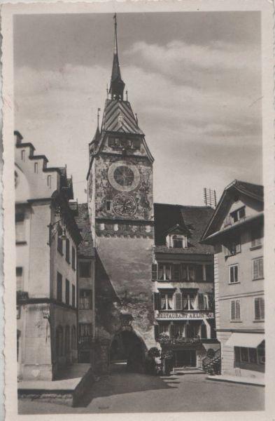 Schweiz - Schweiz - Zug - Restaurant Aklin mit Zytturm - 1937