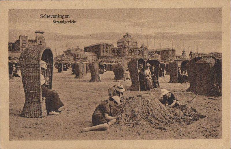 Niederlande - Niederlande - Den Haag, Scheveningen - Strandgezicht - 1924