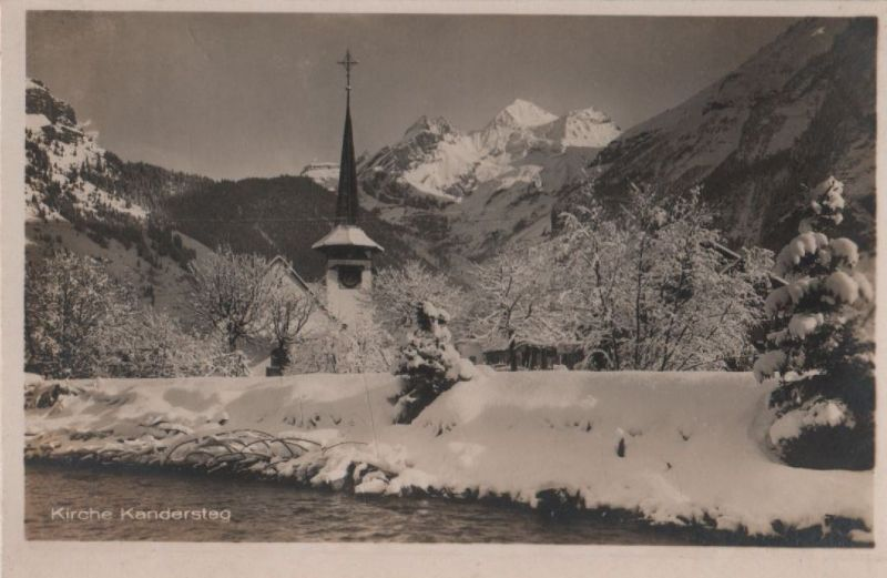 Schweiz - Schweiz - Kandersteg - Kirche - ca. 1955