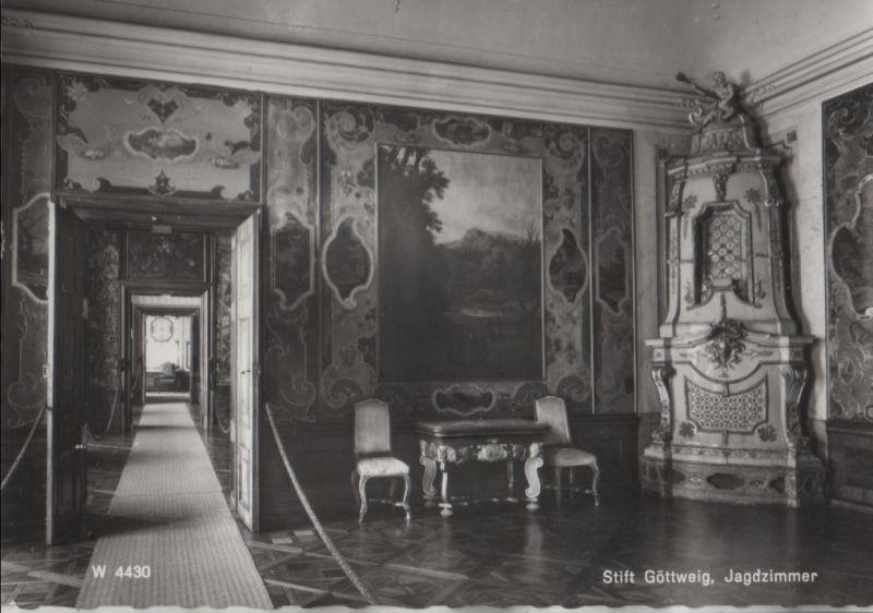 Österreich - Österreich - Furth - Stift Göttweig - Jagdzimmer - ca. 1955