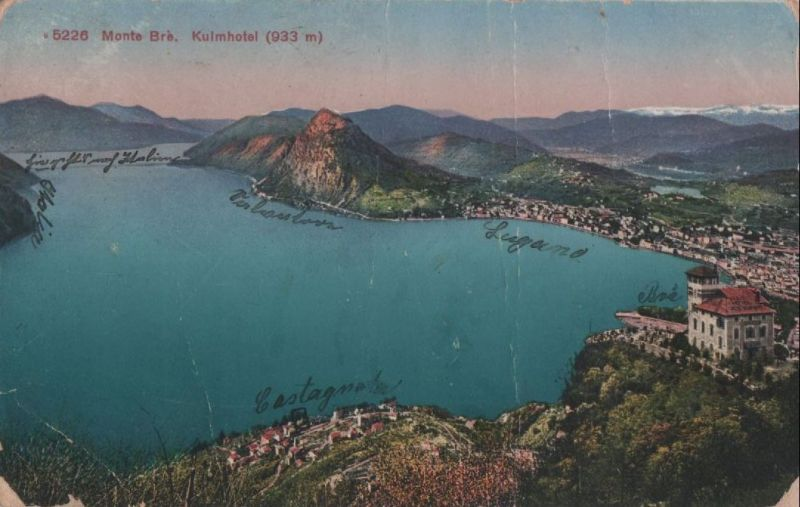 Schweiz - Schweiz - Monte Bre - Kulmhotel - 1922