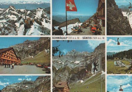 Schweiz - Schweiz - Schwägalp - Säntis Schwebebahn - ca. 1975