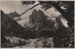 Schweiz - Schweiz - Rosenlaui - Dossen-, Well- und Wetterhorn - ca. 1955