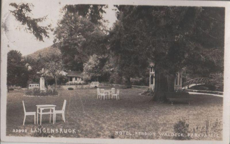 Schweiz - Schweiz - Langenbruck - Hotel Pension Waldeck, Parkpartie - 1927