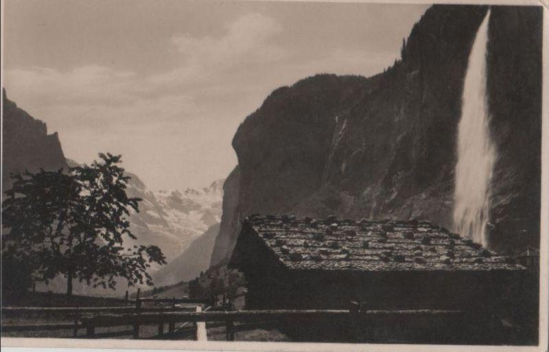 Schweiz - Schweiz - Lauterbrunnen - Staubbach - ca. 1950