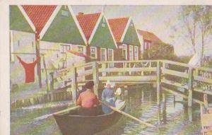 Niederlande - Niederlande - Volendam - Bootje varen - ca. 1955
