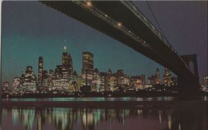 USA - USA - New York City - Nightfall in Lower Manhattan - ca. 1970